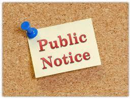 Public Notice of Sale - Kitchen Equipment